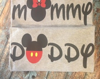 Mr. or Mrs. Mouse inspired Mommy or Daddy shirt