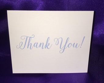 Wedding Thank You Cards - Plain Cursive