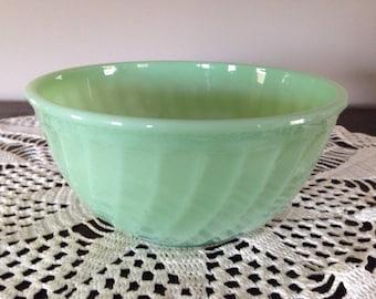 Fireking Jadeite Swirl Bowl