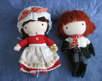Vintage Pocket Dolls - Joan Walsh Anglund - Sugar Cookie and Cowboy