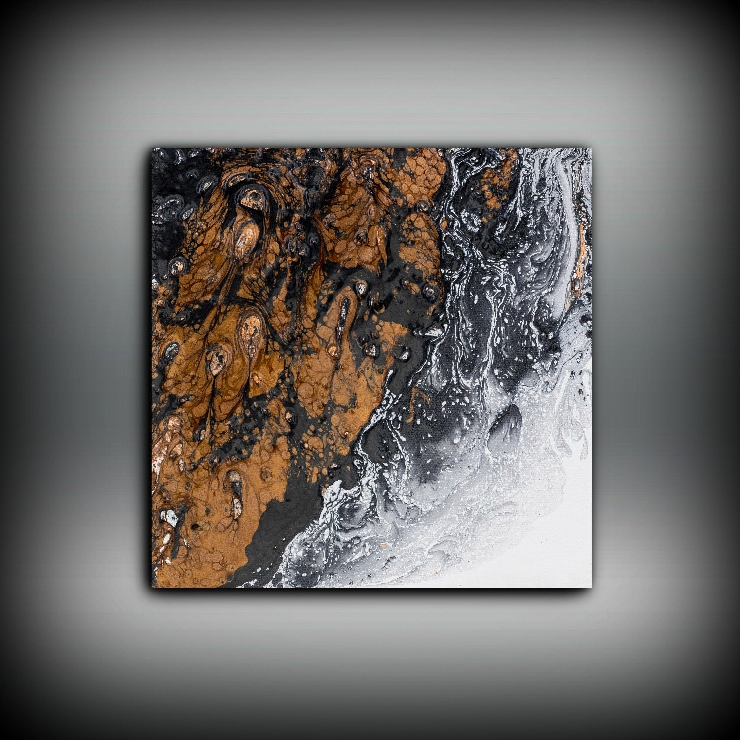 Copper painting art painting original abstract painting for Small wall art