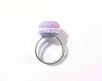 French Macaron Ring Miniature Food Jewelry