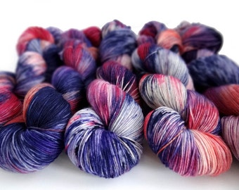 Sock Yarn Superwash Merino/Nylon 4ply Handdyed Yarn: CASSIOPEIA