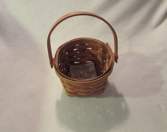 "LONGABERGER 1989 MEASURING Basket - 5 1/2 "" Free Shipping"