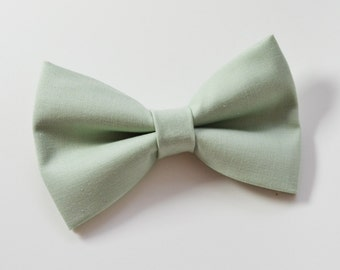 Pale Sage Green bow tie for baby toddler teens adult/Adjustable neck-strap/Clipon