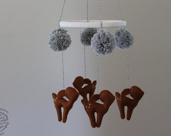 Baby Mobile, Deer Mobile, Hanging Mobile Nursery Decor-Customized