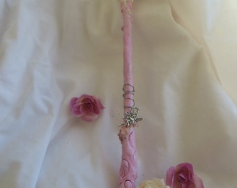 Pink faerie wand, faerie princess wand