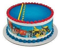 Transformers Licensed - Designer Strips - Edible Cake Side Toppers- Decorate The Sides of Your Cake! - D58128