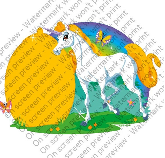 Unicorn - Edible Cake and Cupcake Topper For Birthday's and Parties! - D20802