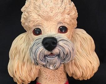 Chalkware Poodle Etsy