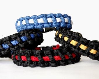 First Responder, Thin Blue Line Bracelet, Thin Red Line Bracelet, Thin Gold Line Bracelet, Thin White Line Bracelet, Thin Line Bracelet