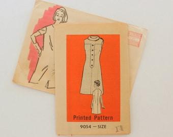 """Anne Adams 9054 · sz 14 bust 36"""" · Womens 1960s Pattern"""