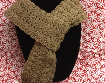 Long scarf, tan scarf, gift idea, neck warmer, winter scarf, wrap scarf, ski scarf