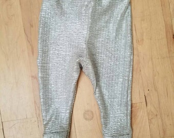 Silver and gold glimmer pants