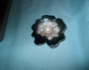Vintage Costume Jewelry Carolee Brooch Pin, Floral