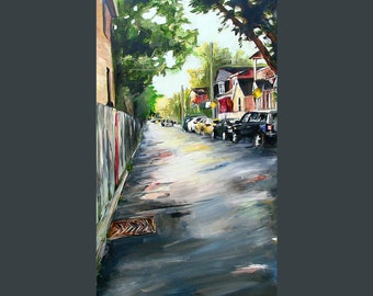 City Painting - Toronto - Oil - Alley Painting