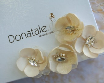Wedding Hair piece- Bridal Hair Flower -Wedding Hair Flower -Wedding Flower Headpiece- Bridal Hair Accessory- Bridal Hair pins