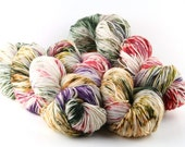 Hand dyed yarn,  80 / 10 / 10%  Super wash Merino / Cashmere / Nylon, sock yarn, 400 yards, 'Botanica'