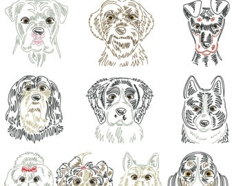 Dog breeds part 10 for the border 10x10cm