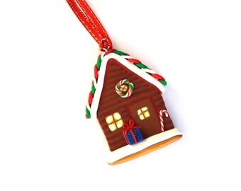 Christmas Decor/ Gingerbread House Ornament