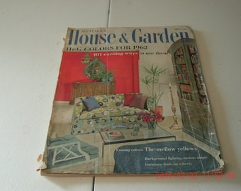 September 1961 House & Garden Magazine, 180 pages, illustrated, covers quite worn, creased