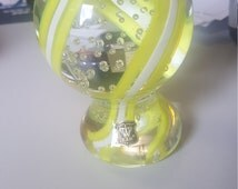 Golden Crown E&R Glass Millefiori Paperweight - ITALY