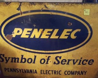 Large Vintage Penelec advertising sign