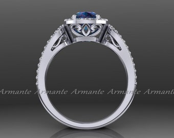 alexandrite engagement ring halo 14k white gold diamond filigree wedding ring chatham alexandrite ring re00012ax - Alexandrite Wedding Ring