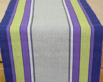 Hand Woven Retro Table Runner 1960s Swedish Textiles Scandinavian Tablecloth Table Topper Vintage Home Decor