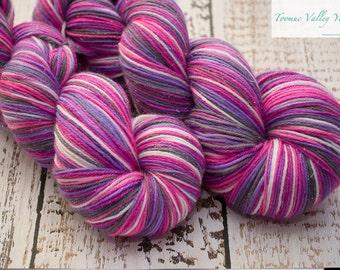 "Smooshy Sparkle Sock hand painted yarn - ""Adora"""