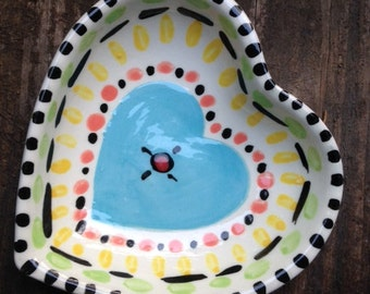 Hand Painted Ring Dish