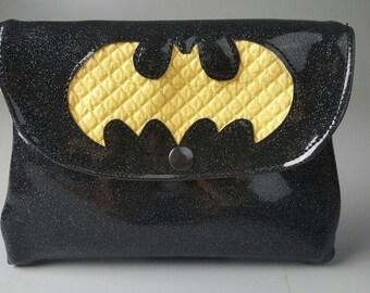 Batman Glitter Vinyl Clutch