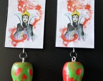Evil Queen w/ Poison Apples Earrings