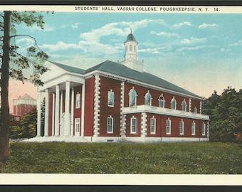 Vintage Postcard -  Student's Hall at Vassar College in Poughkeepsie, New York  (1574)