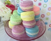 French Macaroon Soap (3) - Dessert Soap - Easter Soap - Mothers Day Gift - Gift for Mom, Teen, Girls - Party Favor - Birthday - Shower Favor