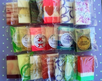 Mini Soap Sampler Set - Mini Soap Grab Bag - Assorted Soap Samples - Seaside Soap Kitchen Mini Sample Set