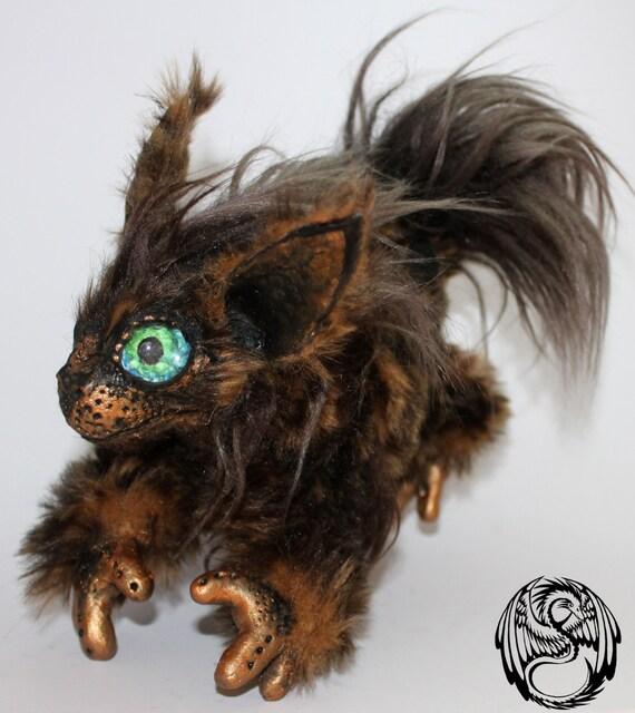 Boop - Cute little fantasy poseable art doll - handmade, OOAK