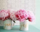 Bridesmaid Mug / Custom Mugs for Bridesmaids or Maid of Honor / Personalized Mug / Gold Calligraphy Coffee Mug