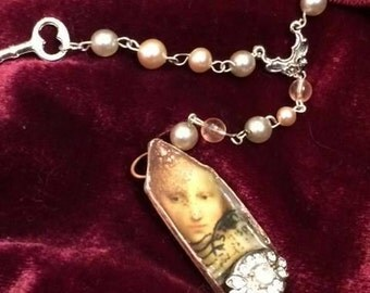 Romantic Renaissance Woman Y\rosary Necklace