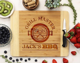 Personalized Cutting board, Fathers Day Grill Board, Dads BBQ, Grill Master, Dad Cutting Board engraved Engraved --21088-CUTB-001