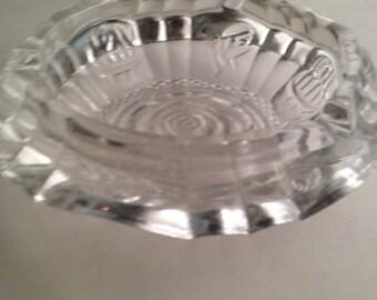 Now On Sale Vintage Crystal Glass Rose Ashtray Cigarette