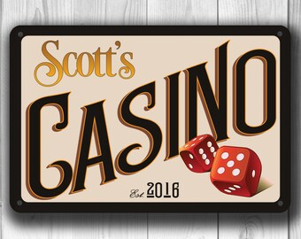 CASINO NIGHT, Customizable Casino Sign, Vintage  style Casino Sign, Casino Party, Casino Decorations, Casion Decor, Personalized Casion Sign
