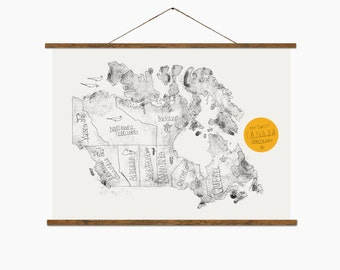 "Map of Canada – Big Art Print – Multiple sizes available  8"" x 10"" / 12"" x 18"" / 24"" x 36"""
