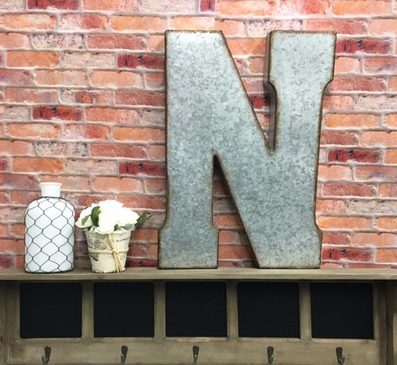 Large Metal Letters For Wall Metal Letters Letter N Large Letters Wall Decor Rustic Letter
