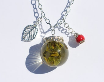 Sold Out! Sugar Plum Kiss. REAL Mistletoe Necklace.  FREE U.S. SHIPPING!