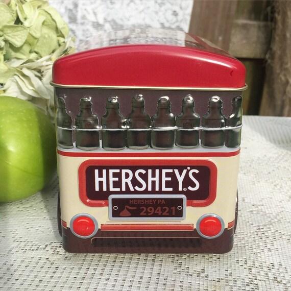 Retro Hershey S Truck Tin Canister Advertising