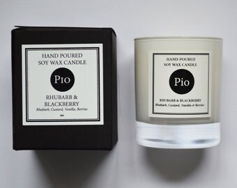 Soy Candle - 20cl - Rhubarb & Blackberry - Gift Boxed