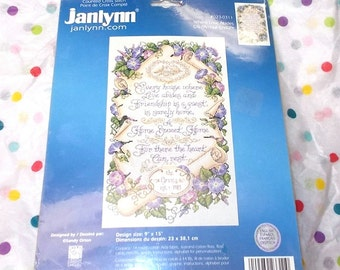 Janlynn 023-0311 Where love abides counted cross stitch kit sealed unopened Sandy Orton 9x15 aida fabric 6 strand floss needle graph 2005