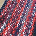 19' by 26' Hand Knit Upcycled T-Shirt Rug, in Red, Navy, White, Black and Burgundy Rag Rug, Cozy and Soft Home Rug, Thick, Chunky Rag Rug