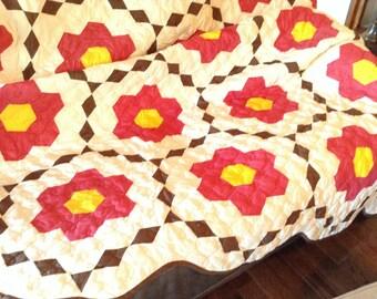 Flower garden quilt #163